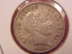 1904 S Barber Dime - Mark On Face - Au - See Pics - X3060