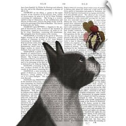 Wall Decal entitled Boston Terrier Ice Cream