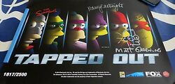 Matt Groening Nancy Cartwright Signed Simpsons Tapped Out Game 2016 Sdcc Poster
