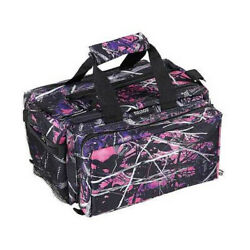 Bulldog Cases Deluxe Range Bag Muddy Girl Camo Finish Nylon Adjustable Shoulder
