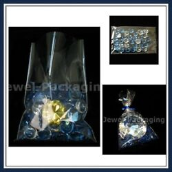 10x Clear Cello Film Packing Storage Bag Cellophane Sleeves 11.8