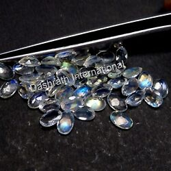 Rainbow Moonstone Oval Faceted Cut SI Clarity Loose Calibrated Gemstone Supplier