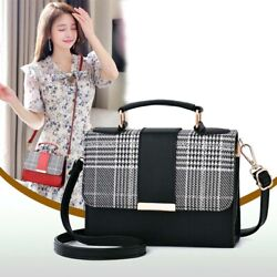 Women#x27;s PU Leather Small Crossbody Handbags Shoulder Bag Messenger Satchel Purse $17.99