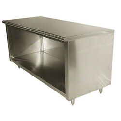 Advance Tabco Eb-ss-305 Advance Tabco 60 In Open Front Work Table Cabinet Base