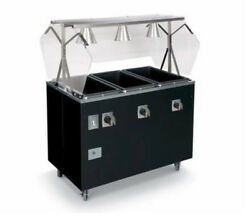 Vollrath T39708 Affordable Portable 46 3 Well Hot Food Station Deluxe