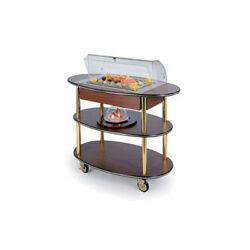 Lakeside 36306 23dx44wx44-1/4h Rounded Oval Dome Display Seafood Cart
