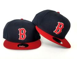 New Era Team Color Navy Red Boston Red Sox 9Fifty Snapback Hat