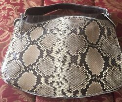SHIRO Designer MASSIMO CALESTRINI 2 Tone Crocodile Handle Bag Purse Rare Limited