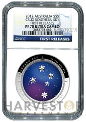 2012 Silver Australia Southern Sky Series - Crux - Ngc Pf70 First Releases