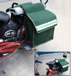 Durable Pair Motorcycle Saddlebags Luggage Pannier Thick Canvas Helmet Tank Bags