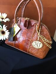 DESIGNER SAMPLE SALE - EXOTIC $1800 HANDMADE GENUINE Ostrich Hide Purse Handbag
