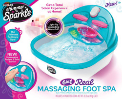 Cra-z-art Shimmer Andlsquon Sparkle 6 N 1 Real Massaging Foot Spa Blue