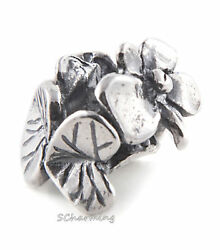 --authentic Trollbeads Silver And Pearl Violet Of February 51739