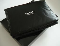 Chanel    cocoon makeup  bag  for travel big  large size black pouch   VIP gift