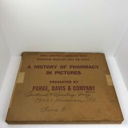 Vintage Parke Davis Window Display Set A History Of Pharmacy In Pictures Pd3030