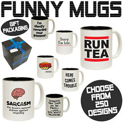 Funny Mugs Novelty Mug - Perfect Birthday Office Cup Drink Gifts - Gift Boxed