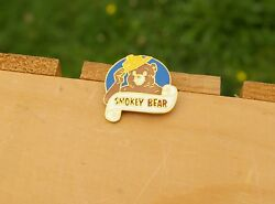 Smokey Bear Prevent Forest Wild Fires Grizzly Gold Tone Metal Lapel Pin Pinback
