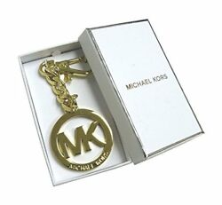 Michael Kors Bag Charm Keyring MK Design 35H0TKCK Yellow Gold Ladies NEW #0021