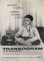 1959 Paper Ad Transogram Toys Games Country Doctor
