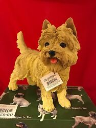 LARGE WHEATEN CAIRN TERRIER Figurine 9 inches long New in Original Box