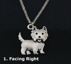 CAIRN TERRIER NECKLACE Facing Right -NEW Without Tags