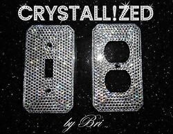 Full Bling Crystallized Any Switch Plate Cover Omnia Chrome W/ Crystals