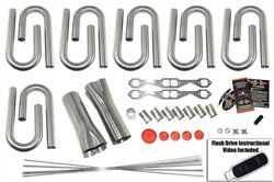 Small Block Chevy Custom Header Build Kit- 1 5/8 Primary 3 Collector 304 Ss