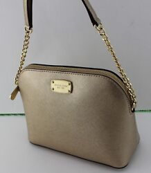 NEW AUTHENTIC MICHAEL KORS CINDY GOLD LG LARGE DOME CROSSBODY WOMEN#x27;S HANDBAG $89.99