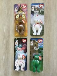 New Rare Mcdonald's Ty Beanie Babies Collectors Set Of 4 Special Bears 1999