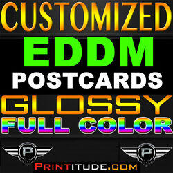 5000 Every Door Direct Mail 6.5x8 Eddm Full Color 14pt Glossy Personalized Print