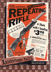 1951 Paper Ad Knickerbocker Plastic Toy Co Repeating Ping Pong Ball Rifle Dolls