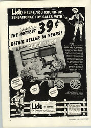 1953 Paper Ad Lido Toy Cowboy Lil Pardner's Chuck Wagon