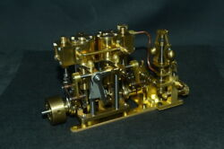 New Two-cylinder Steam With Flyball Governor And Pump