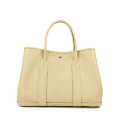 Auth HERMES Garden Party PM Women Epson tote bag