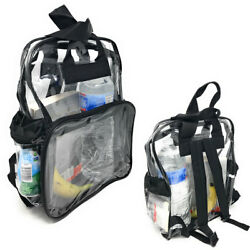 200 Lot Clear Transparent School Security Backpack Book Bags 3 Pockets Wholesale