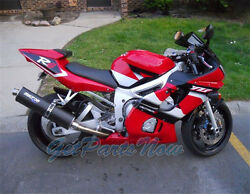 Fit For 1998-2002 Yamaha Yzf 600 R6 Red Black Injection Abs Fairing Bodywork X09