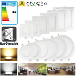 LED Recessed Ceiling Panel Light 18W15W12W9W6W Down Light Home Fixture Lamp