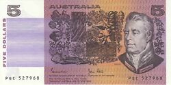 Australia And039johnston - Stoneand039 Paper 5 1983 Uncirculated