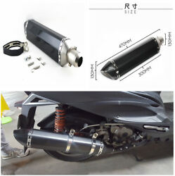 38-51mm Durable Motorcycle Exhaust Muffler Pipe wAdapter Mounting Accessories