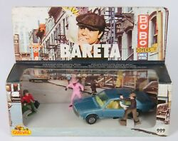 Guisval Spain 999 'bareta' Gift Set With Car And 3 Figures. Ex-shop-stock 1970's