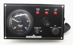 Island Packet Sailboat Yanmar 4jh Ignition Instrument Panel W/ Hour Meter P=127