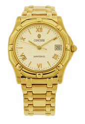 Concord SARATOGA 18kt Yellow Gold 34mm Watch 50.C2.230 MSRP $12950.00 EXCELLENT