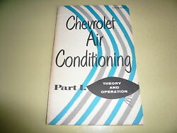 1955 Chevrolet Air Conditioning Part 1 Theory & Operation Vintage T-O-P 55-40 SM