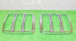 1964 1965 1966 Mustang Fastback Coupe Conv Gt Shelby Orig Tail Light Trim Bezels