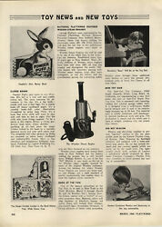 1948 Paper Ad Article Electric Weeden Toy Steam Engine Revelco's Bozo Clown Doll