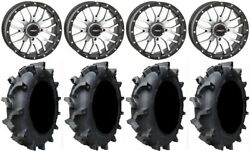 System 3 St-3 Machined 18 Wheels 35 Interforce 628 Tires Kawasaki Mule Pro Fxt