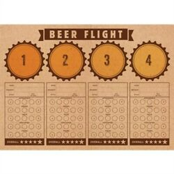 Cheers And Beers Beer Flight Tasting Paper Placemats 24 Per Pack 14 X 10