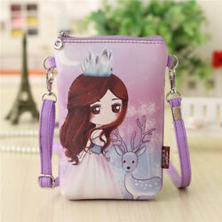 Cartoon Characters Coin Purse Small Pouch Bags Mini Messenger Bag for Kids Girls