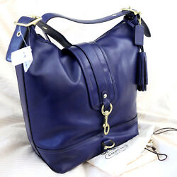 NWT COACH LEGACY Leather Duffle Bucket Marine Purple Crossbody Purse Bag NEW
