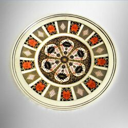 Royal Crown Derby Imari 12 1/4 Charger With Sterling Silver Rim - 1128